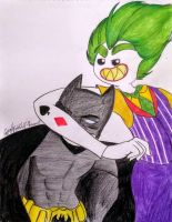 Batman and Joker by Gyan-Nightwolf-Star