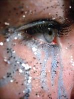 Blue Make-up and Glitter by music-lover-stock
