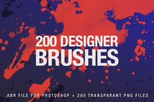 200 Designer Brushes for Photoshop by styleWish