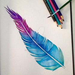 Watercolour Feather by Miilo18