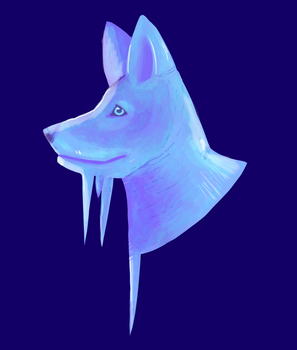 icy wolf by orificeorigami