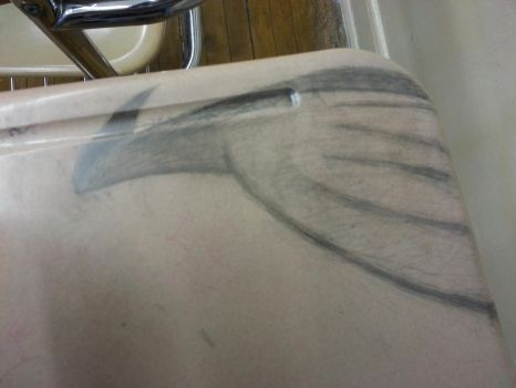 Lugia Pencil Base Sketch (On Desk) by Rpshadow100
