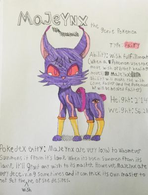 My very own Pokemon: Majeynx by Puccalover345