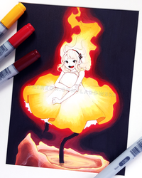Little flame by Ladowska