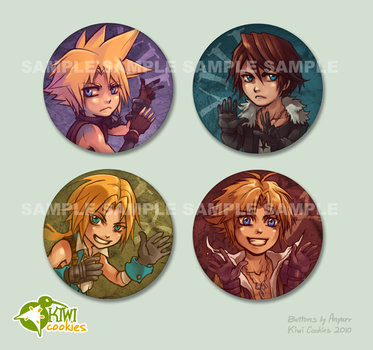 Dissidia: Buttons by Anyarr