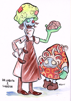 Finktober - Doctor Loboto and Sheegor by TopperHay