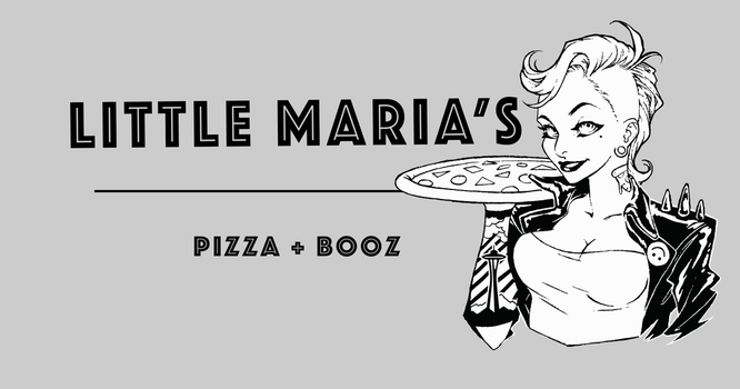 Little Maria's Pizza logo by fazaadferoze