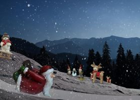 Sledding St Nick by KarmaRae