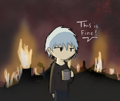 Daily training #018 : This is fine by ShininKira