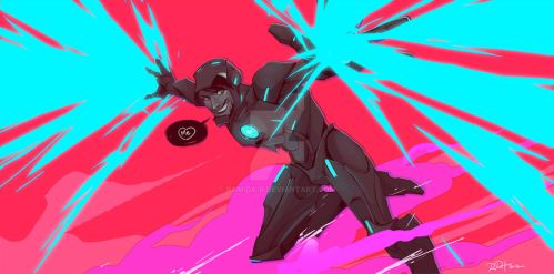 Tron-ish Iron Man by ramida-r
