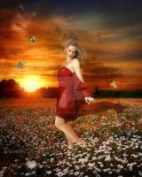 In A Field of Daisies by PaintedOnMySoul