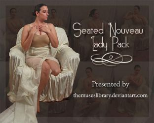 Seated Nouveau Lady PACK 1 by themuseslibrary