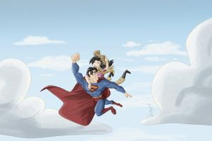 Superman and Lois by fdiskart