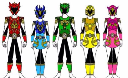 Power Rangers Elemental Knights by Eddmspy