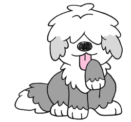 Day 20: Old English Sheepdog by Alice-of-Africa
