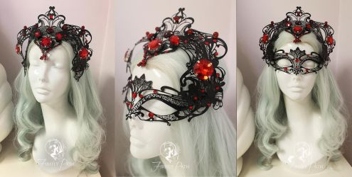 Widowmaker Masquerade Mask and Crown by Firefly-Path