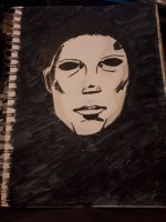 Michael Myers #Inktober!  by ThrougTheDark101-2