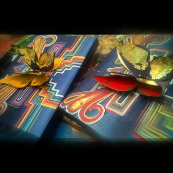 Original 3D goldleaf butterflies by KaloOne