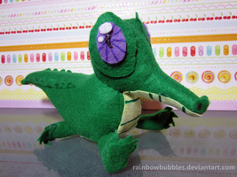Commission- Gummy from MLP fanplush by Rainbowbubbles