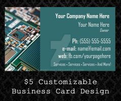 Customizable Business Cards - 07 by PointyHat