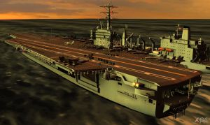 USS Nimitz Aircraft Carrier for XPS (posable) 2.3 by Haganeya