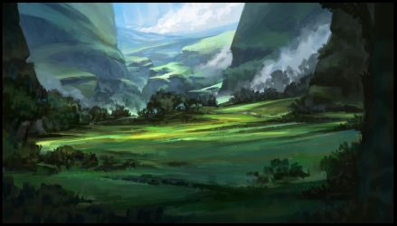Green Valley by SebastianWagner