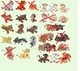 Cub Adopts! Sale! read info to see who is left! by blueviolinist13