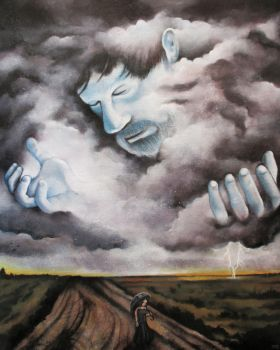 Self Portrait As A Storm Cloud by bedowynn