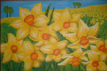 Daffodils by PaintYourSoul-D