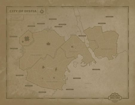 SandStorm: Map of Distia by lordcarter