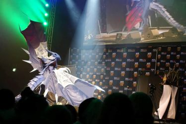 Bahamut Final Fantasy VIII Cosplay - flying on sta by calleymacleod