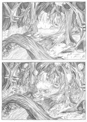 Comparison: the Forest and the Fairy-Forest by Meajy