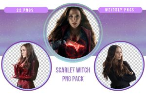 Scarlet Witch / Wanda Maximoff PNG Pack by Weirdly-PNGS