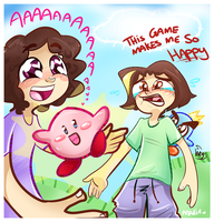 Game Grumps - Kirby's Epic--AAAWWW SO CUTE by MimiMarieT
