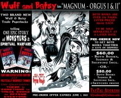 WULF and BATSY: MAGNUM ORGUS Pre Order by BryanBaugh