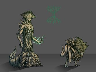 Green Demons by BeholderKin