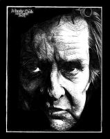Johnny Cash by trephinate