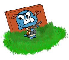 gumball and his trusty 12gage by the-inflato