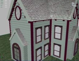 3D Victorian House 2 by IndigoFlamingo