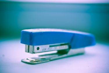 blue stapler. by thespook