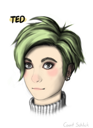 'Oh Ted' - Ted Portrait Fan Art by countschlick
