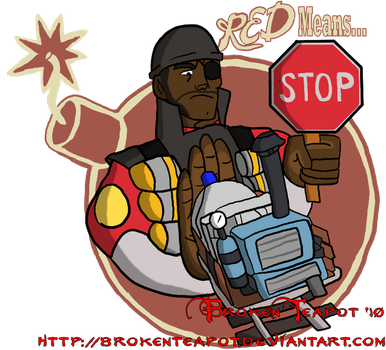RED TF2 Payload Spray by BrokenTeapot