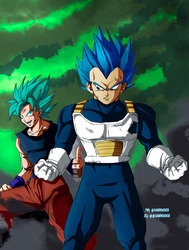 vegeta new form by Sandra-delaIglesia
