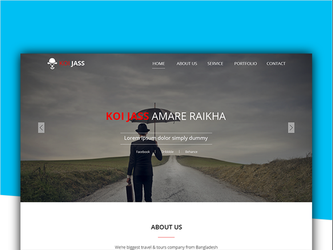 KOI JASS One Page PSD Template ( Free Download ) by designphantom