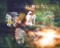 5 Indian Penachos {Brushes} by Julieta7599