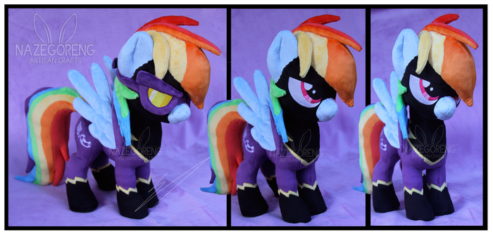 Shadowbolt Rainbowdash Custom Plush by Nazegoreng