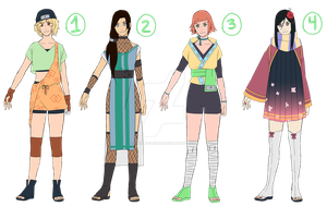Naruto Adopts: Set 5 by maple-flower