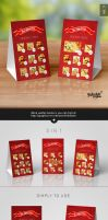Paper Table Tent Mock-up Template Vol.3 by Itembridge