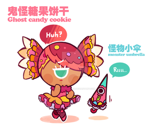 Ghost candy cookie by Ghost-pumpkin