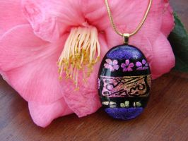 OOAK Glass Egg Pendant by FusedElegance